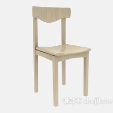 田园原木餐椅3d模型下载