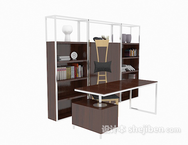 现代书桌、书柜