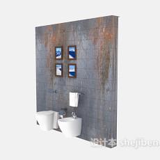 壁式小便器、洗手池3d模型下载