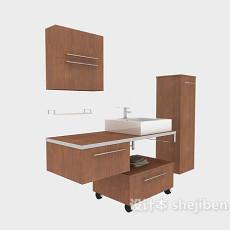 家居浴柜组合3d模型下载