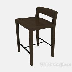实木高脚椅3d模型下载