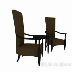 高背休闲沙发椅3d模型下载