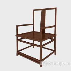 中式扶手休闲椅3d模型下载