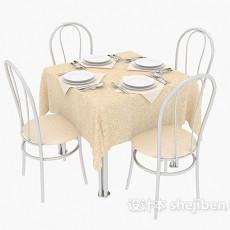 铁艺桌椅组合3d模型下载