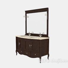 欧式复古浴柜3d模型下载