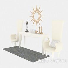 高背家居单人沙发3d模型下载