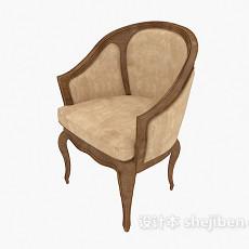 单人咖啡椅3d模型下载