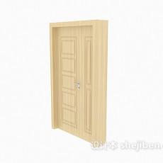 黄色大门3d模型下载