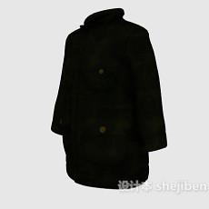 黑色大衣3d模型下载
