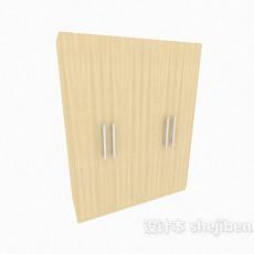 拉手衣柜3d模型下载