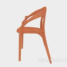 田园家居餐椅3d模型下载