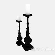 蜡烛灯具组合3d模型下载