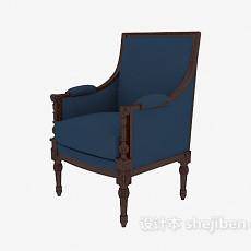 豪华扶手椅3d模型下载