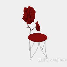 创意玫瑰休闲椅3d模型下载