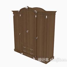 欧式手拉式衣柜3d模型下载