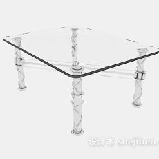 客厅玻璃沙发茶几3d模型下载