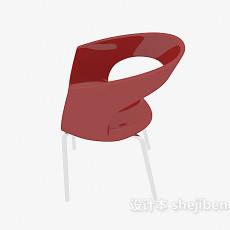 红色塑料休闲椅3d模型下载