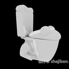 创意坐便器3d模型下载