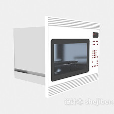 家用微波炉3d模型下载