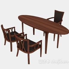 洽谈桌椅组合3d模型下载