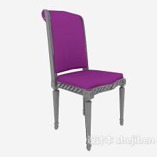 高脚实木靠背椅3d模型下载