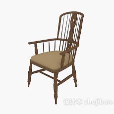 中式风格高背木椅3d模型下载