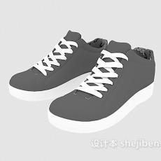 男士系带运动鞋3d模型下载