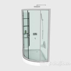 玻璃浴室3d模型下载