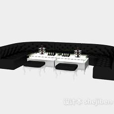 办公接待沙发3d模型下载