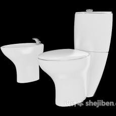 坐便马桶、洗手池3d模型下载
