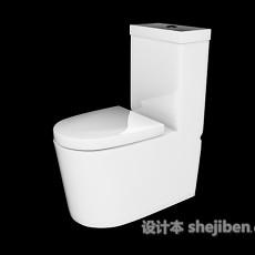 白色马桶3d模型下载