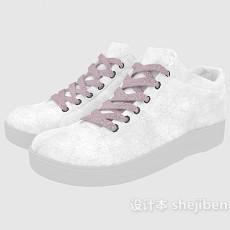 白色布鞋3d模型下载