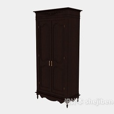 古典高档衣柜3d模型下载