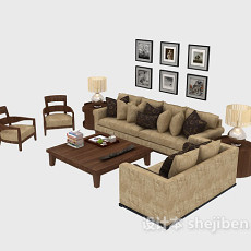 客厅多人沙发3d模型下载