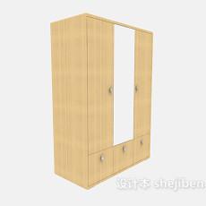 带镜子鞋柜的衣柜3d模型下载