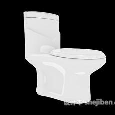 浴室白色马桶3d模型下载