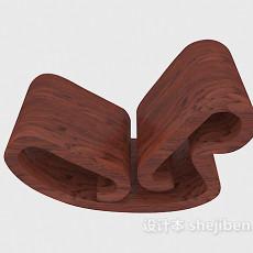 古典木椅子3d模型下载