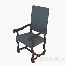 中式扶手摇椅3d模型下载
