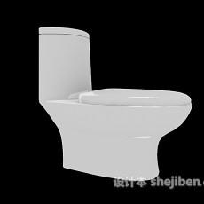 卫生间冲水马桶3d模型下载