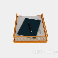 办公文件架3d模型下载
