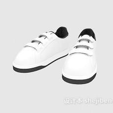 白色运动鞋3d模型下载