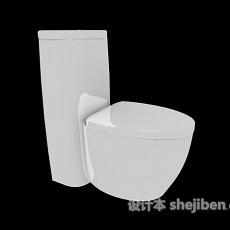 家用陶瓷马桶3d模型下载