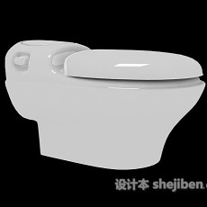 卫生间坐便器3d模型下载