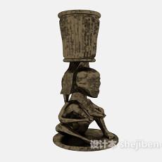 雕塑摆件3d模型下载