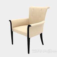 简约扶手家居椅3d模型下载