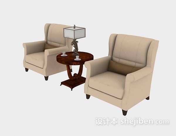 新中式单人沙发