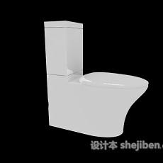 现代坐便马桶3d模型下载