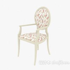 田园实木餐椅3d模型下载