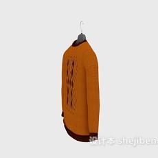 橙色毛衣3d模型下载