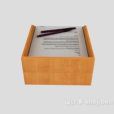 办公文件夹3d模型下载